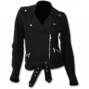 Косуха METAL STREETWEAR - Fleece Women Biker Jacket Black - Изображение