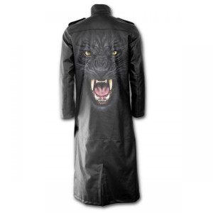 Пальто TRIBAL PANTHER - Gothic Trench Coat PU-Leather with Full Zip - Изображение
