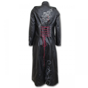 Пальто FATAL ATTRACTION - Gothic Trench Coat PU-Leather Corset Back - Изображение 1