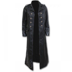 Пальто FATAL ATTRACTION - Gothic Trench Coat PU-Leather Corset Back - Изображение