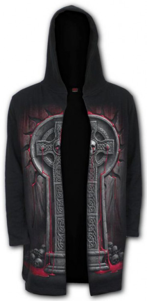 Толстовка BLEEDING SOULS - Occult Hooded Cardigan - Изображение
