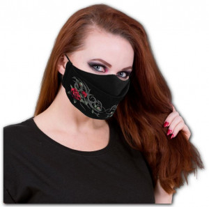 Защитная маска TRIBAL ROSE - Premium Cotton Fashion Mask with Adjuster - Изображение 2
