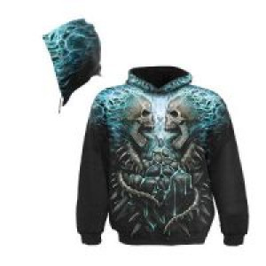 Балахон FLAMING SPINE AO Hooded SS Blk - Изображение 1