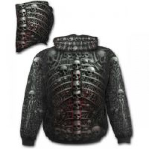 Балахон DEATH RIBS - Allover Hoody Black - Изображение 1
