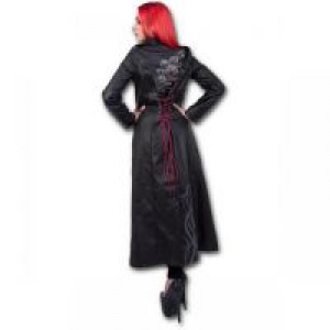 Пальто FATAL ATTRACTION - Gothic Trench Coat PU-Leather Corset Back - Изображение 2