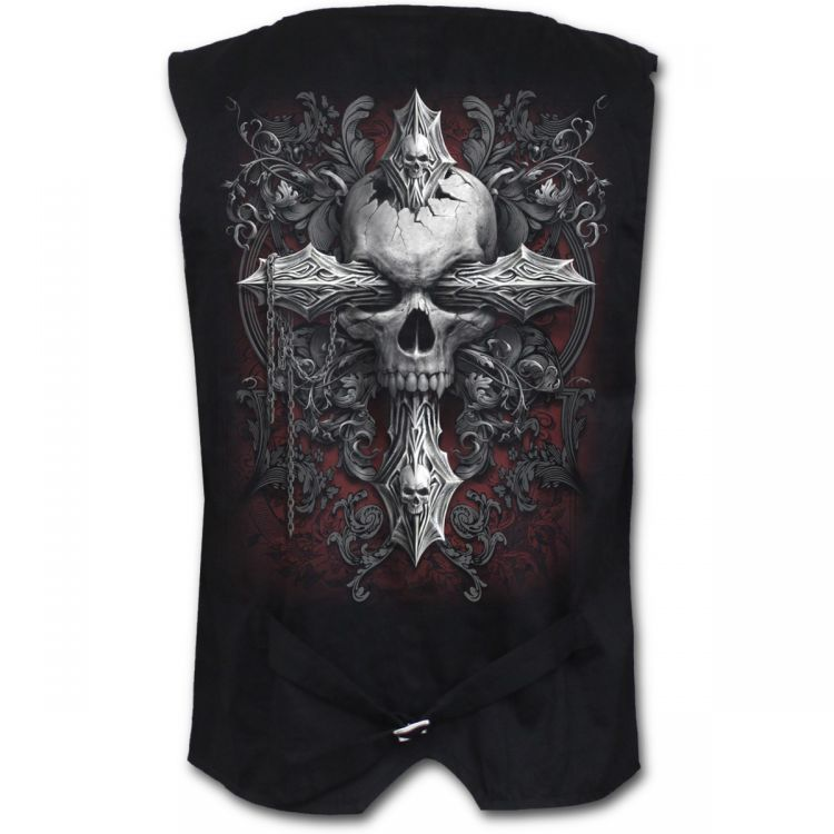 Жилет CROSS OF DARKNESS - Gothic Waistcoat Four Button with Lining - Изображение 1