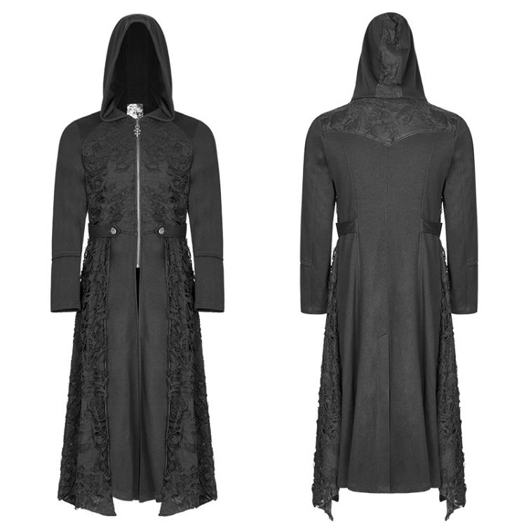 Пальто Diablo Long Coat Punk Rave WY-911ZCM/BK Изображение 1