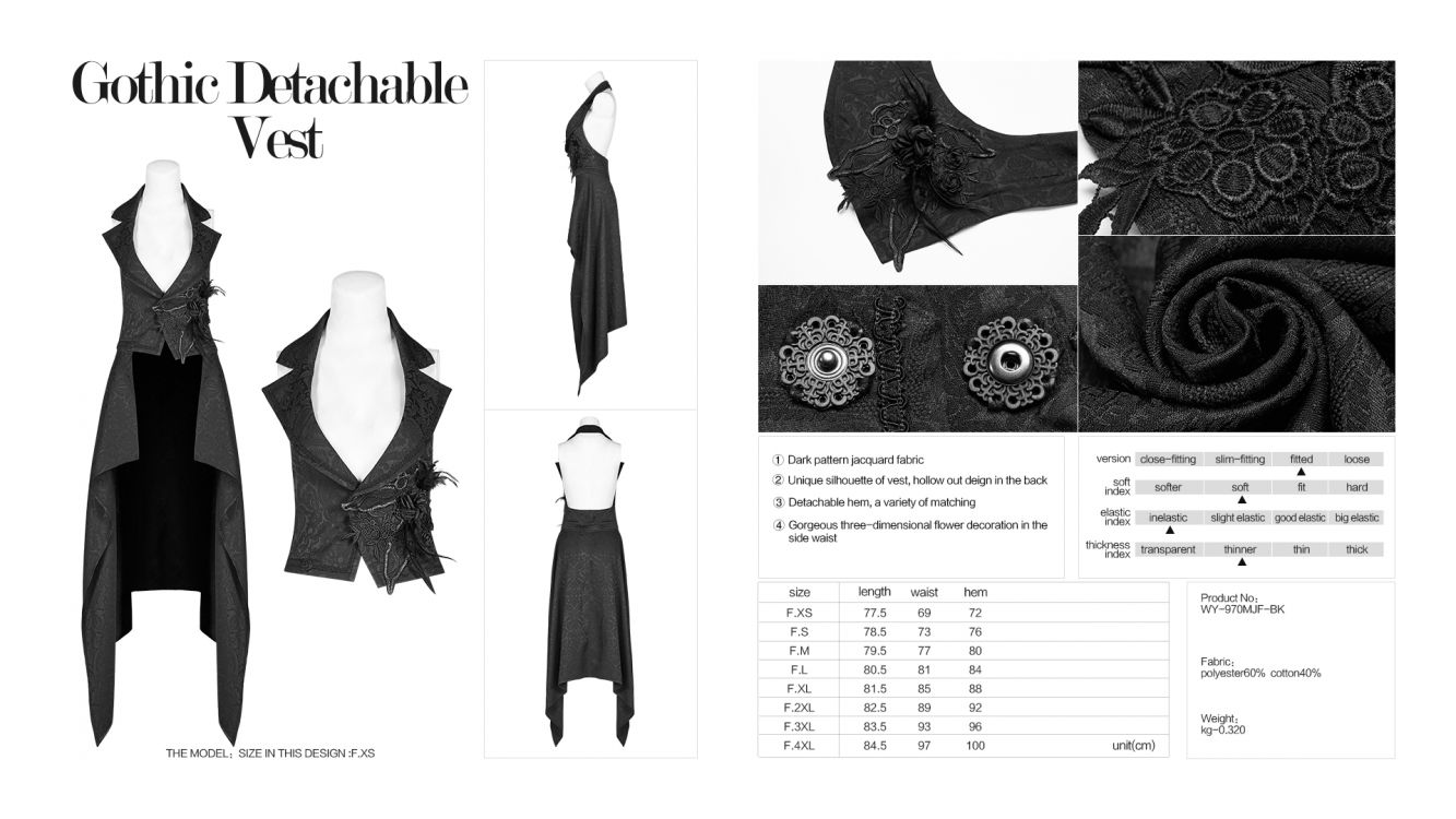 Жилет Gothic Detachable Vest - Изображение 9