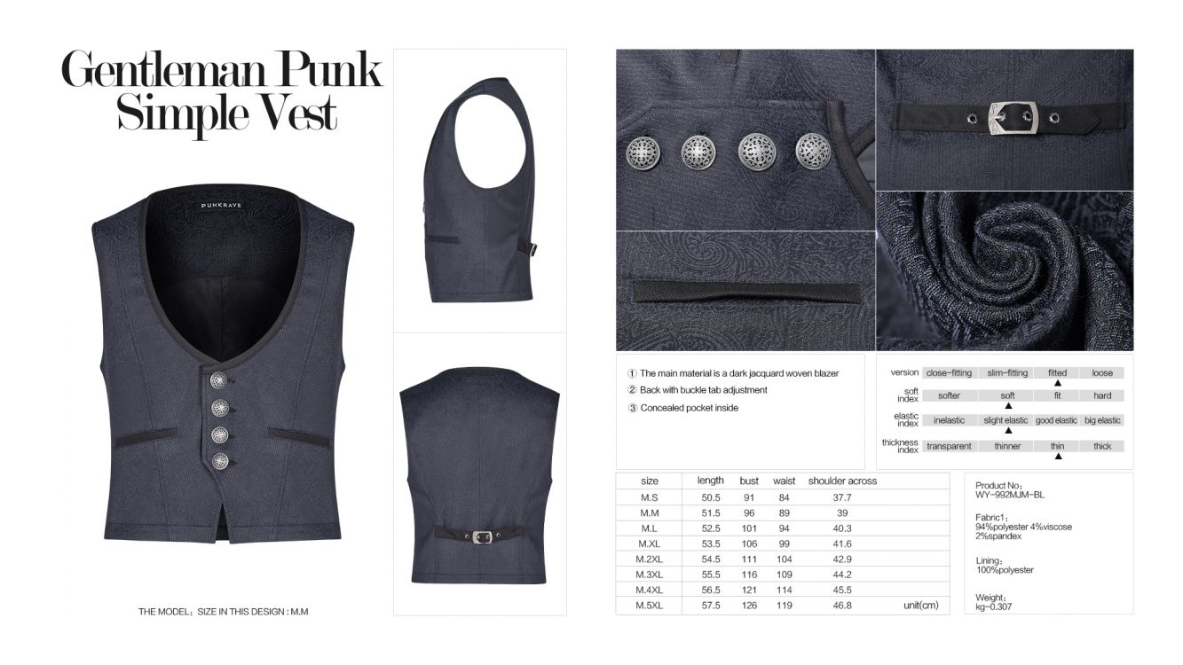 Жилет Gentleman Punk Simple Vest - Изображение 8