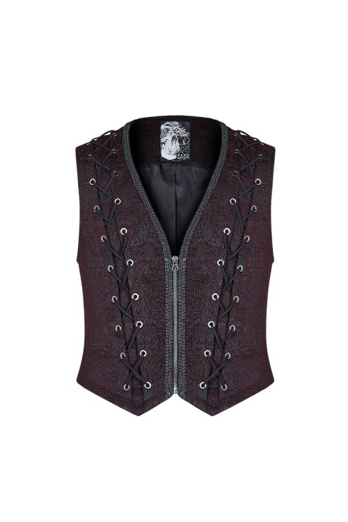 Жилет Goth Black and Red Vest - Изображение 1