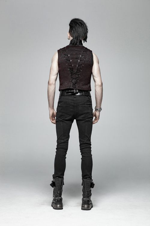 Жилет Goth Black and Red Vest - Изображение 6