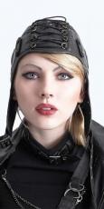 Шапки, кепки, цилиндры, шарфы, готический макияж, губная помада