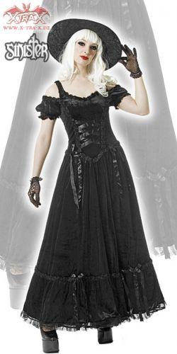 Черное платье с корсажем