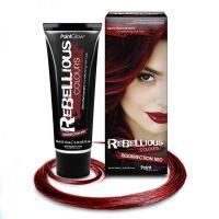 Цветные краски для волос, голубая пудра, красная губная помада