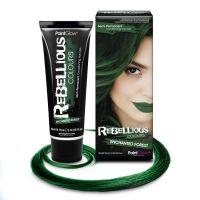 Цветные краски для волос, блеск для губ, готический макияж