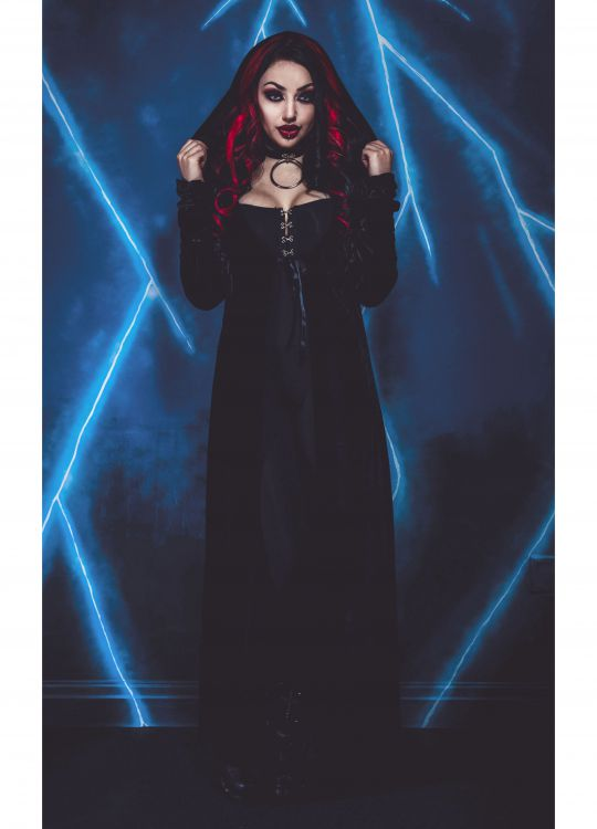 Кардиган NECESSARY EVIL FREYA EMBROIDERED VELVET MAXI CARDI Necessary Evil N1332 Изображение 1