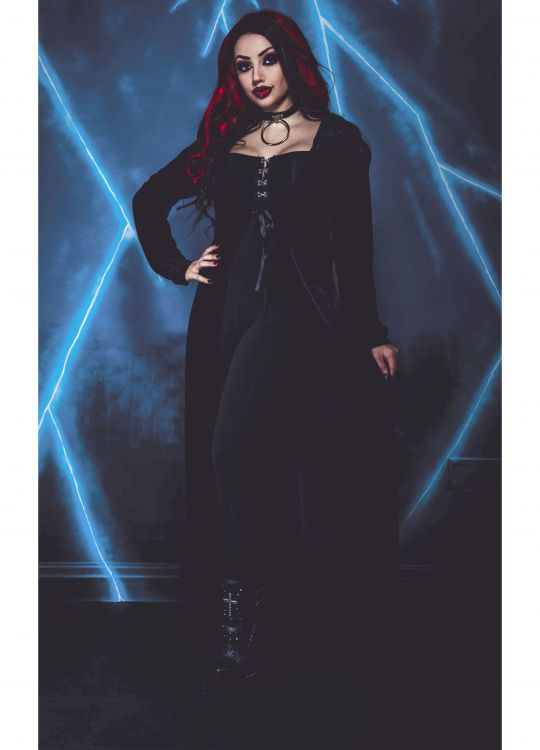 Кардиган NECESSARY EVIL FREYA EMBROIDERED VELVET MAXI CARDI Necessary Evil N1332 Изображение 3