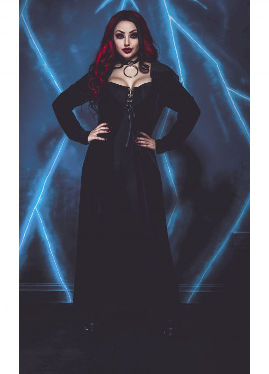 Кардиган NECESSARY EVIL FREYA EMBROIDERED VELVET MAXI CARDI Necessary Evil N1332 Изображение 4
