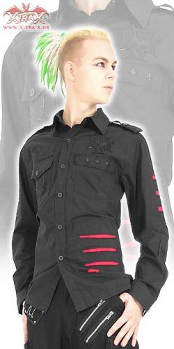Рубашки и топики, готическая мода, мужская одежда.